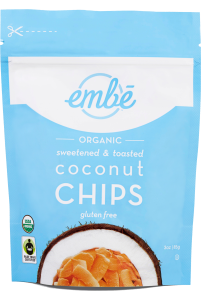Embé Organic Sweetened & Toasted Coconut Chips